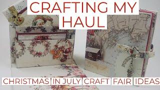 Crafting My Christmas In July Haul.  CRAFT FAIR IDEAS **Christmas Card Box**