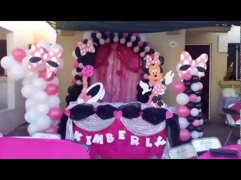 Decoraci n de fiesta de minnie mouse rosita youtube for Decoracion de minnie mouse