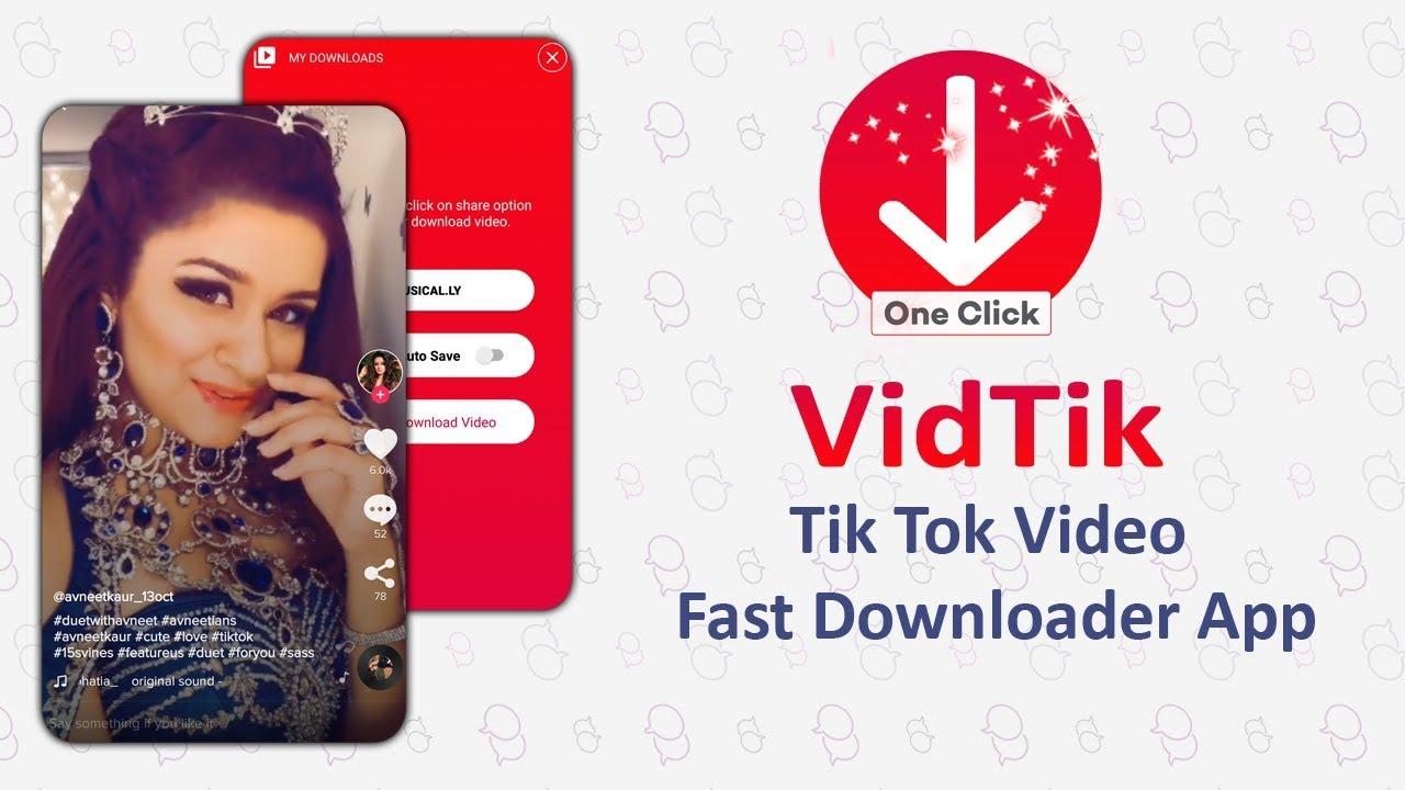 VidTik - Video Downloader App For Tik Tok ( Musically )
