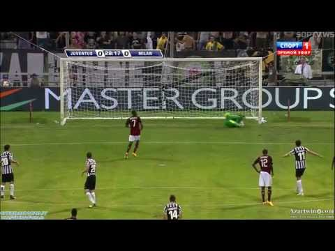 Robinho miss penalty (Marco Storari Save) AC Milan vs Juventus