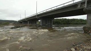 """На Дальнем Востоке с приходом тропического тайфуна """"Кросса"""" ухудшилась паводковая ситуация."""