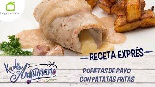 Receta Exprés: Popietas de pavo con patatas fritas