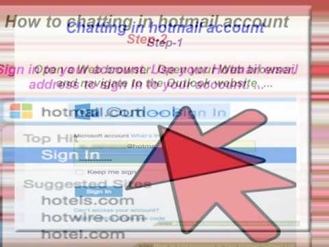 How To Chat  With A Hotmail Account Step By Step