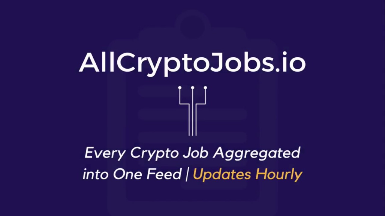 All Crypto Jobs - Every crypto job in the world in one feed updated