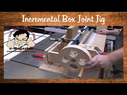 Homemade box/finger joint jig with an incremental positioner (Incra I-box style)