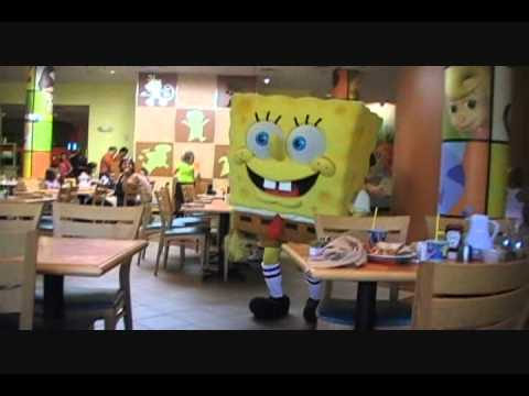Nickelodeon suites resort character breakfast youtube for Character hotel