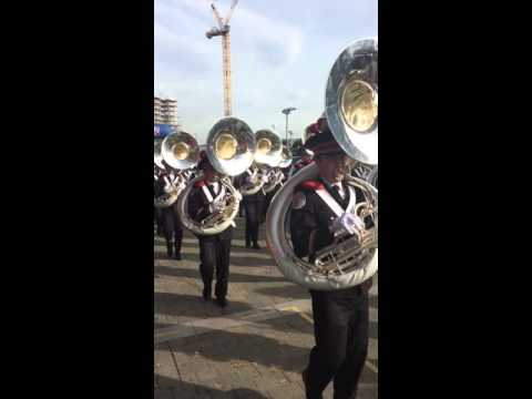 Ohio State Marching Band - Bills vs Jaguars Wembley Fan Plaza