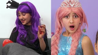 Olivia's Babysitting Challenge 👼 Princesses In Real Life | Kiddyzuzaa