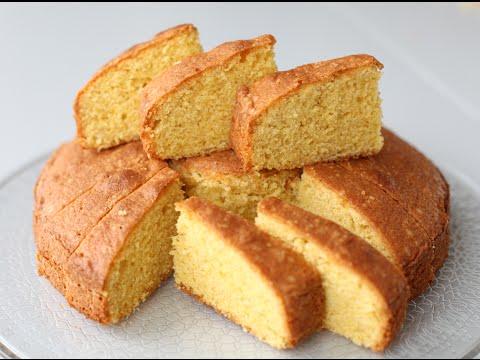 бисквит с манкой  манник  SUGEE CAKE рецепт от DOVNA