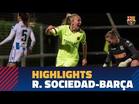 [HIGHLIGHTS] Real Sociedad 2-5 FC Barcelona Women's Team