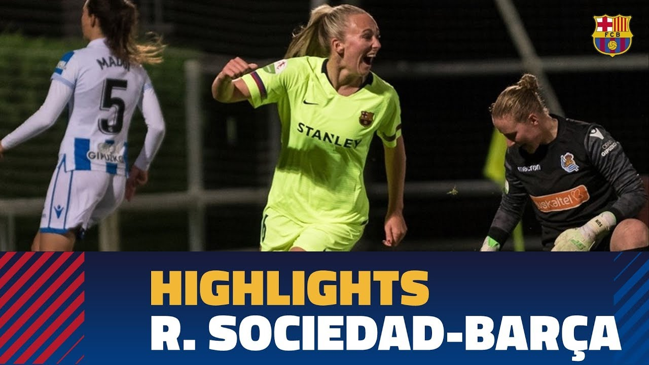 4a94f1f90 HIGHLIGHTS  Real Sociedad 2-5 FC Barcelona Women s Team - YouTube