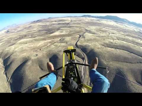 Powered parachute over Colonia Juarez, Chihuahua, Mexico