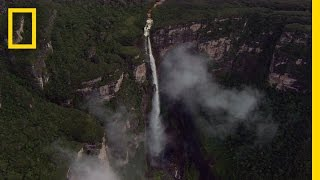 Flying Above the World's Tallest Waterfall | National Geographic