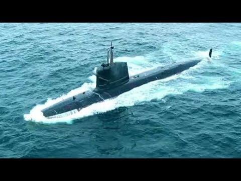 Watch India's Deadliest Sub INS Kalvari Dive Underwater, Shoot Missiles
