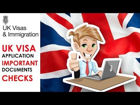 UK VISA APPLICATION IMPORTANT DOCUMENTS CHECKS | UKVI || UKBA || UK IMMIGRATION | 2018 HD