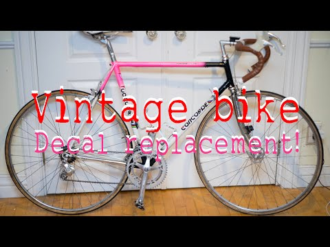 How to replace vintage bike decals! Concorde Columbus