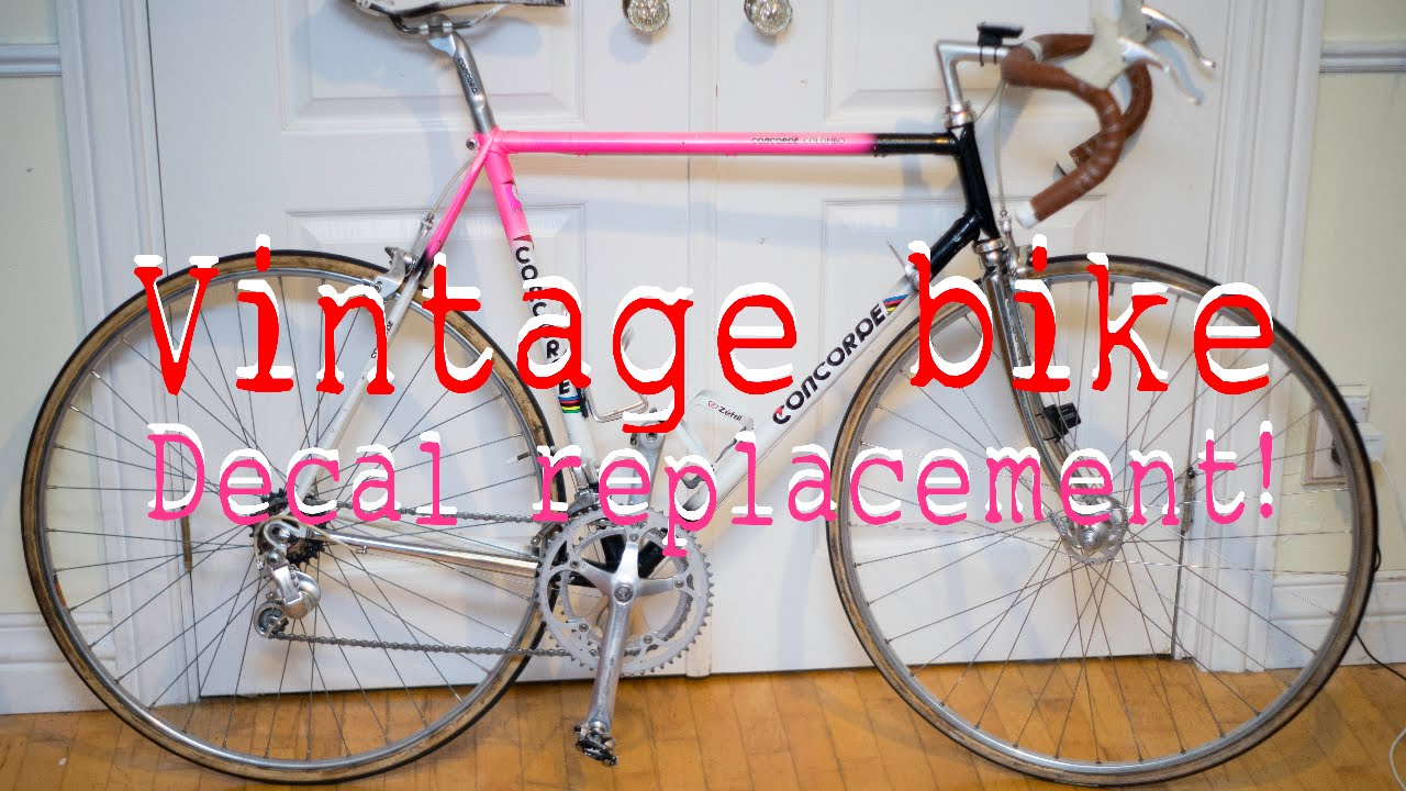 decal wheel decal frame decal fork decal vintage CLASSIC bicycle sticker