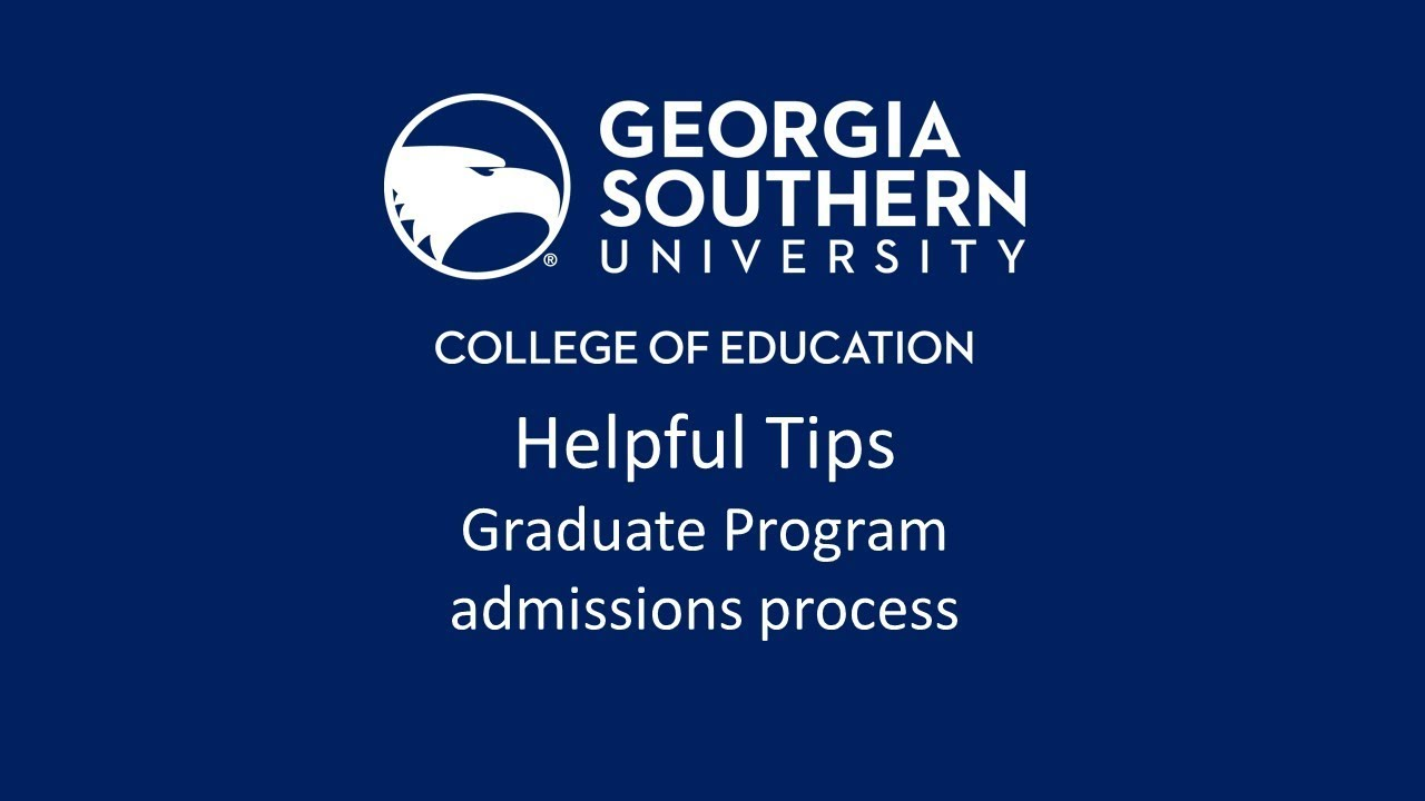 Apply Now | Graduate Admissions | Georgia Southern University