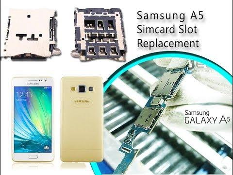carte sim samsung a5 2020 Samsung A5 (A500F) Sim card slot replacement / Reemplazo del