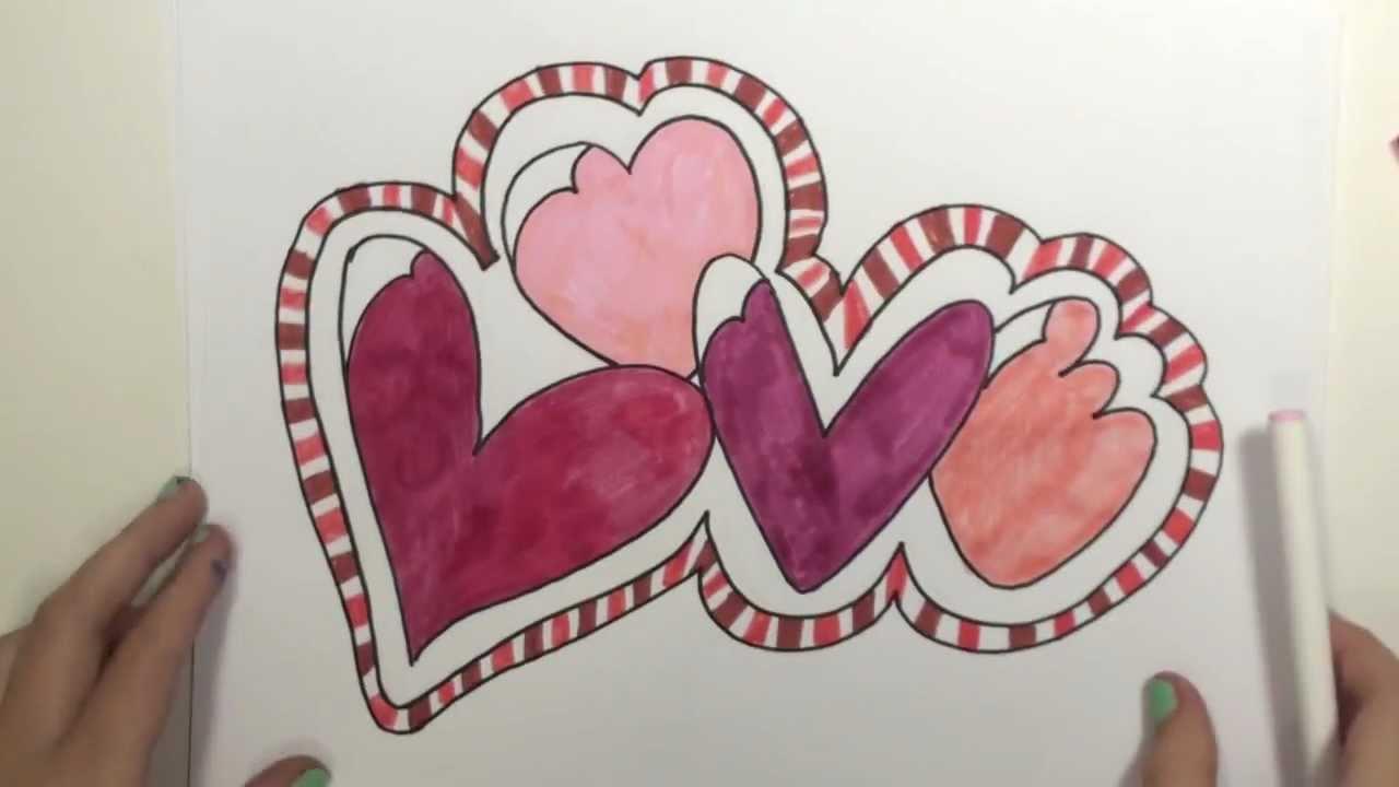 How To Draw Graffiti Love Hearts Mlt Youtube