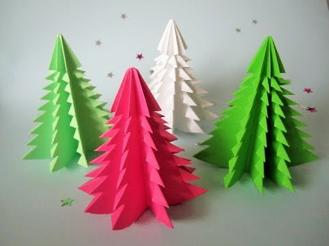 3d weihnachtsbaum aus papier in 5 minuten falten diy. Black Bedroom Furniture Sets. Home Design Ideas