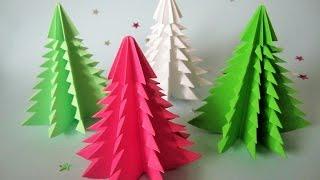 3D Weihnachtsbaum aus Papier in 5 Minuten falten /DIY Papier