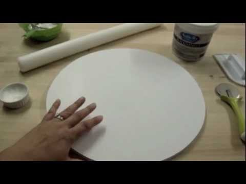 Cake With Fondant Storage : How To Cover A Cake Board With Fondant: The Krazy Kool ...