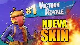VICTORY with *NEW SKIN* HEAD OF HAMBURGUESA!! | Fortnite Battle Royale ? GoDeiK