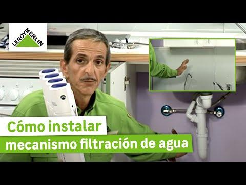 Instalar un mecanismo de filtración del agua para beber (Leroy Merlin)
