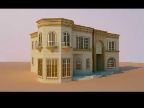 3d villa design for stone cladding the exterior for Exterior villa design photo gallery