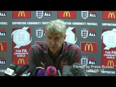 Arsene Wenger pre Arsenal vs Chelsea Community Shield 2017