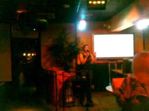 Karaoke in Naples, Florida singing Fancy