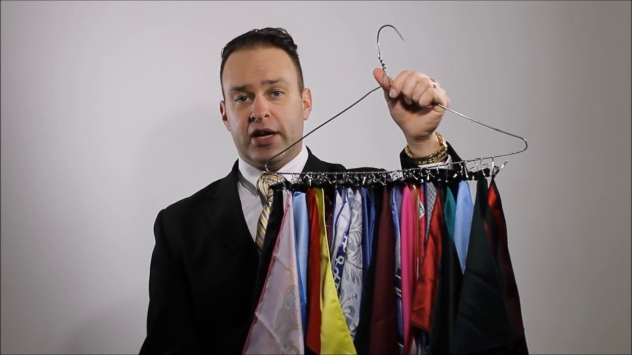 Pocket Square Organizing And Storage Life Hack Youtube