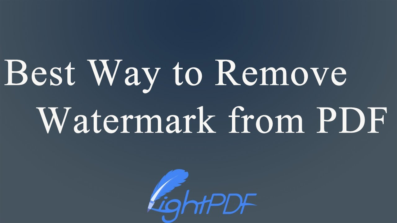 Free and Paid Ways to Remove Watermark from PDF Document