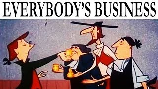 Es ist jedermanns Business | Kalter-Krieg-Ära Propaganda Karikatur auf den Kapitalismus & Free Enterprise | 1954