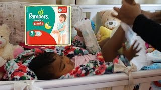 Why I Use Pampers Baby Dry Pants Nappies: Toddler Loves Pants