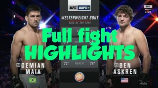 Ben the funky askren full Fight HIGHLIGHTS