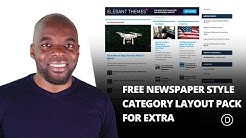 Free Newspaper Style Category Layout Pack for Extra