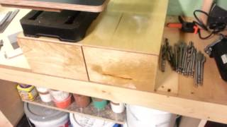 Benchtop Drill Press Table & Drawer Unit