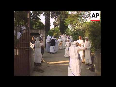 ITALY/INDIA: MOTHER TERESA'S VISIT TO ROME UPDATE