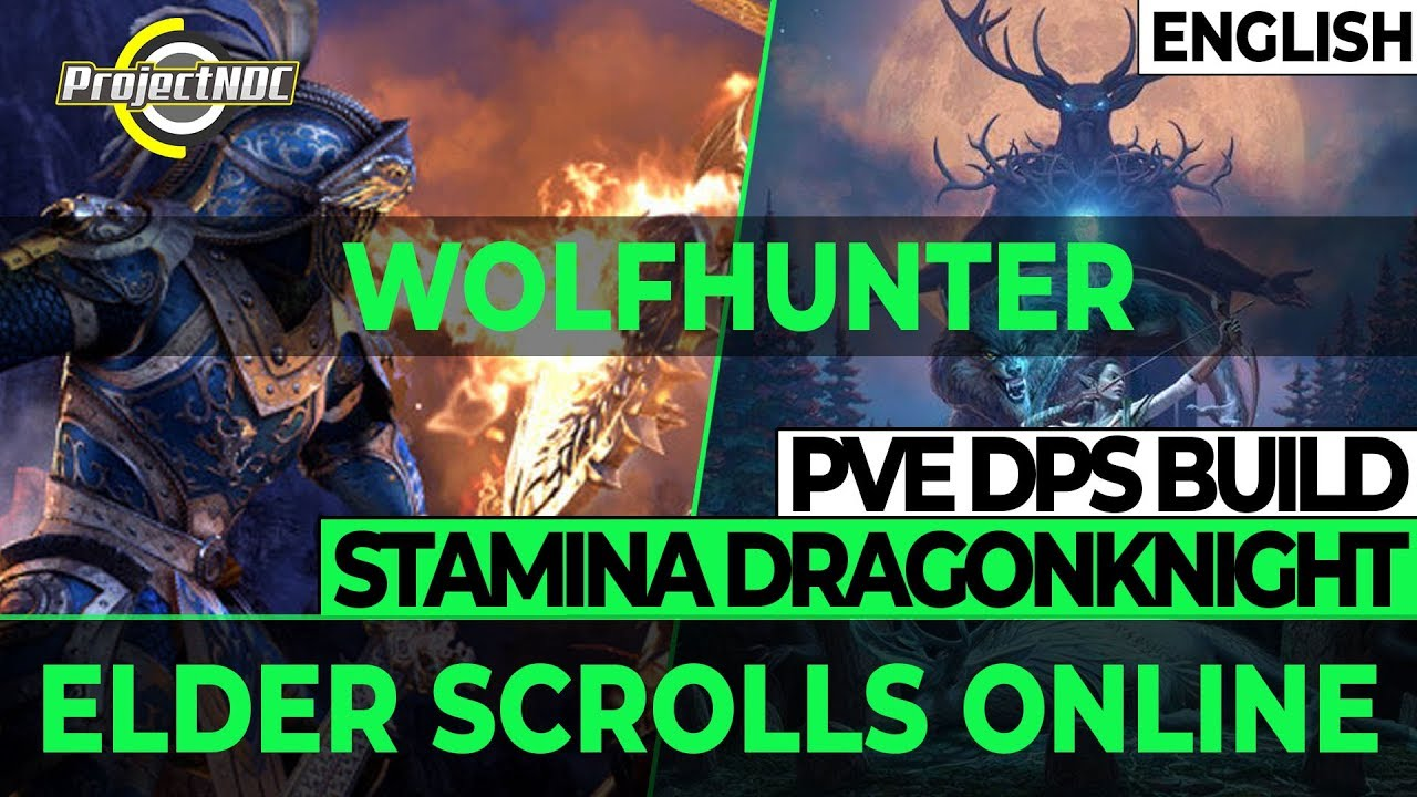ESO - Stamina Dragonknight PVE DPS Build for Wolfhunter (English)