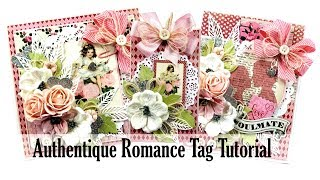 Vintage Valentine Tag Tutorial Polly's Paper Studio Authentique Romance Process Holiday Paper Craft