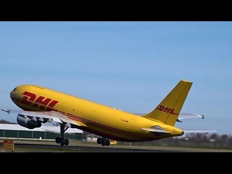 DHL (European Air Transport) - Airbus A300B4-600 RF - Takeoff at AMS (D-AEAS)