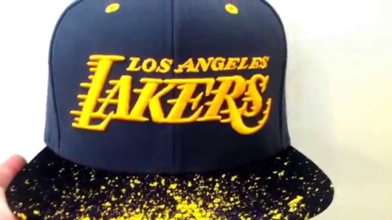 ff08fa28930 L.A. Lakers snapback mitchell and ness