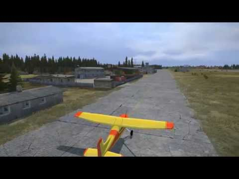 Dayz 0.54 map : flying from NE to NW Airfield over Chernogorsk