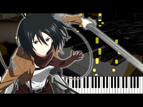 """[Attack On Titan S2 Ep12 OST] """"Barricades"""" - 進撃の巨人 PV OST (Synthesia Piano Tutorial - Live Cover)"""