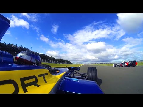 Formula e  donington onboard with nicolas prost