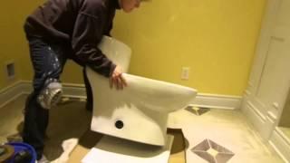 Nouvelle installation de toilette à partir d
