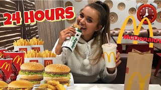 I ATE ONLY MCDONALDS FOOD FOR 24 HOURS! basically a drive with me and mukbang
