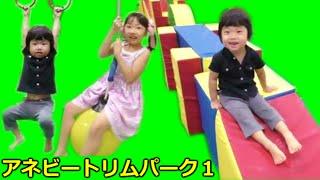 ★played Swedish playground equipment★アネビートリムパークで遊んだよ!第1弾★ thumbnail